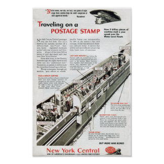 Railway Mail on the New York Central Railroad 1943 Poster
