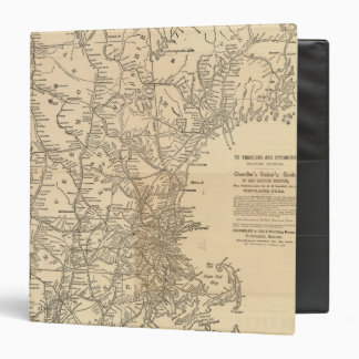 Railway map New England States 3 Ring Binders