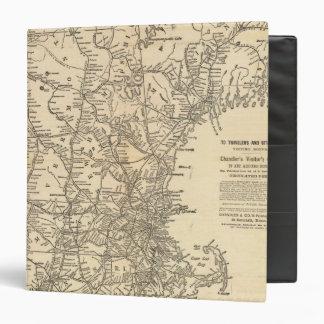 Railway map New England States Binder