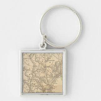 Railway map New England States Keychain