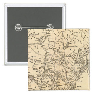 Railway map New England States Pinback Button