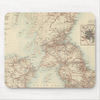 Railway Map of the British Isles Mouse Pad