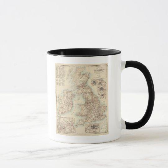 Railway Map of the British Isles Mug