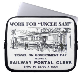 Railway Postal Clerk 1926 Laptop Sleeve
