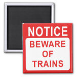 Railway Sign 2 Inch Square Magnet