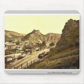 Railway station and Burg Are, Altenahr, the Rhine, Mousepads