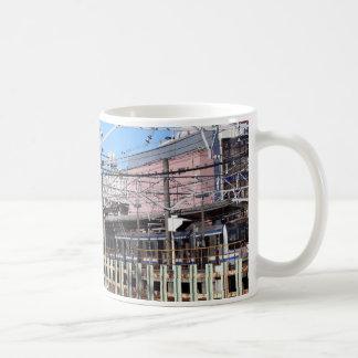 Railway station in bedroom town coffee mug