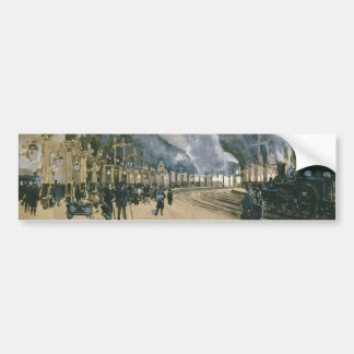 Railway Station in York England by Joseph Pennell Bumper Sticker