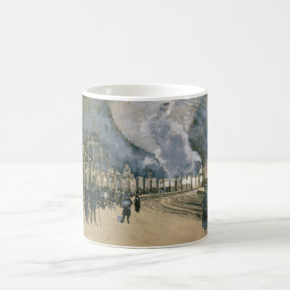 Railway Station in York England by Joseph Pennell Classic White Coffee Mug