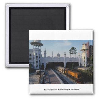 Railway station, Kuala Lumpur, Malaysia Magnets