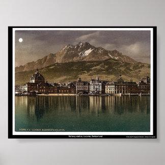 Railway station Lucerne Switzerland Posters
