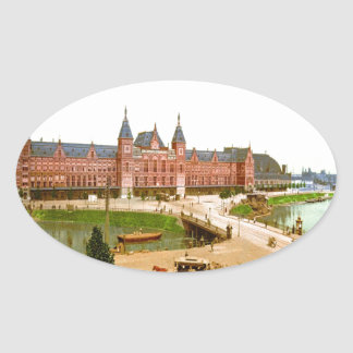 railway station photochrom central oval sticker