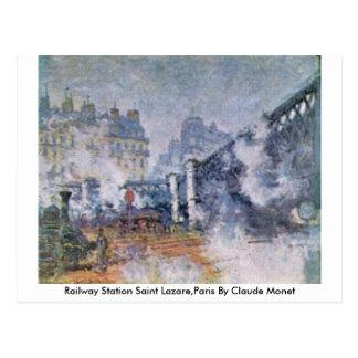 Railway Station Saint Lazare,Paris By Claude Monet Postcard