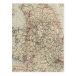 Railway, statistical England, Wales Postcard