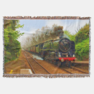 Railway Steam Locomotive - Trainspotters Art IV Throw Blanket