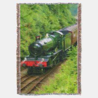Railway Steam Locomotive - Trainspotters Art V Throw