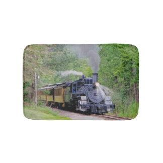 Railway Steam Train for Trainspotters Art Bath Mat