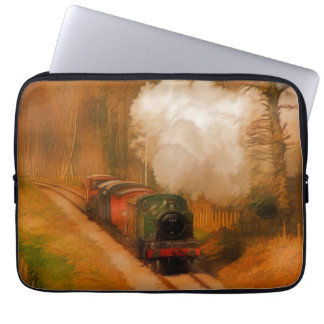 Railway Steam Train for Trainspotters Art III Laptop Sleeves
