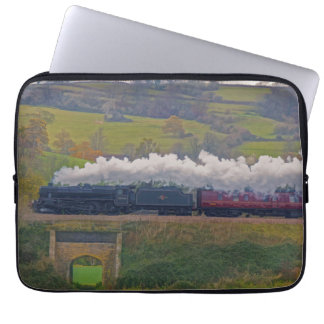 Railway Steam Train for Trainspotters Art Laptop Sleeve