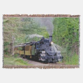Railway Steam Train for Trainspotters Art Rug Throw Blanket