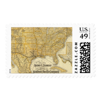 Railway, steamship lines Southern Pacific Company Postage Stamp