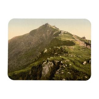 Railway, The Last Mile, Snowdon, Gwynedd, Wales Rectangular Photo Magnet