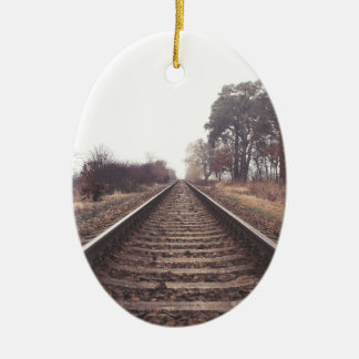 Railway to the Infinity Ceramic Ornament