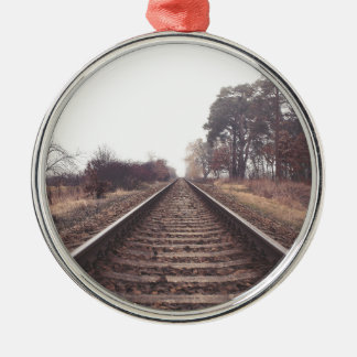 Railway to the Infinity Metal Ornament