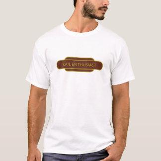 Railway Totem Rail Enthusiast Brown Hiking Duck T-Shirt