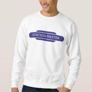 Railway Totem Station Master Blue Hiking Duck Pullover Sweatshirt