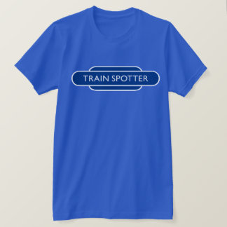 Railway Totem Train Spotter Blue Hiking Duck T-Shirt
