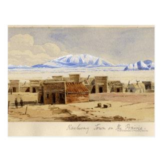 Railway Town on the Prairie Postcard