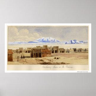 Railway Town on the Prairie Poster