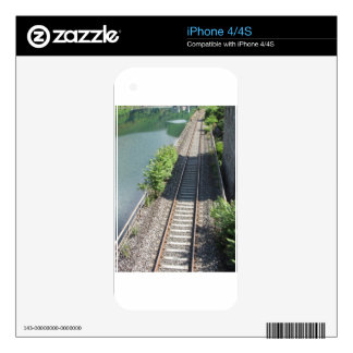 Railway tracks along the river iPhone 4 decal