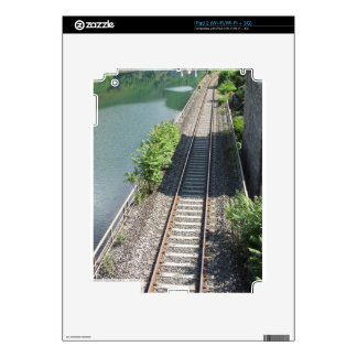Railway tracks along the river skin for the iPad 2
