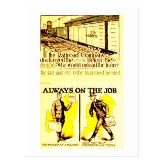 Railway Trains are Always On The Job Postcard