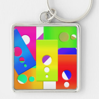 Raimbow Color Shapes Keychain