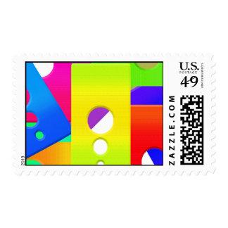 Raimbow Color Shapes Postage