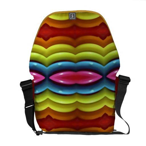 Raimbow colorea la bolsa de mensajero del carrito bolsas de mensajeria