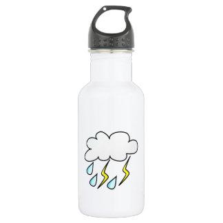 Rain and Lightning in Thunderstorm Water Bottle