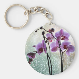rain and orchids keychain