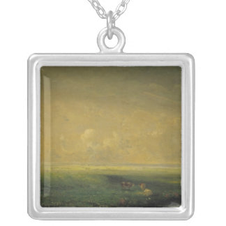 Rain and Sun, c.1873 Silver Plated Necklace