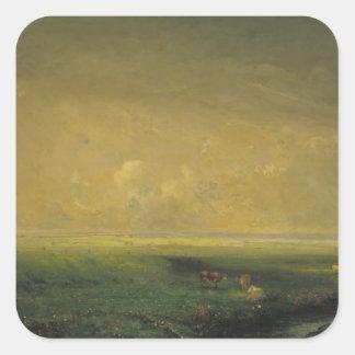 Rain and Sun, c.1873 Square Sticker