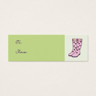 Rain Boots Gift Tag