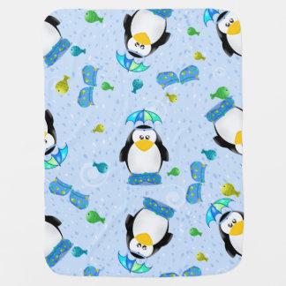 Rain Boots Penguin Baby Blanket