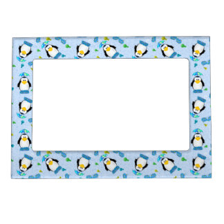 Rain Boots Penguin Magnetic Picture Frame