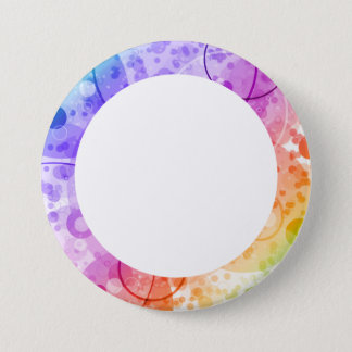 RAIN BUBBLES IN RAINBOWS PINBACK BUTTON