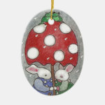 Rain Bunny Xmas Ornament