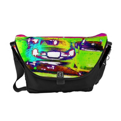 Rain Cars Abstract Art Photo Designer Bag Purse Courier Bags