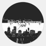 Rain City Paranormal -- Cityscape Classic Round Sticker